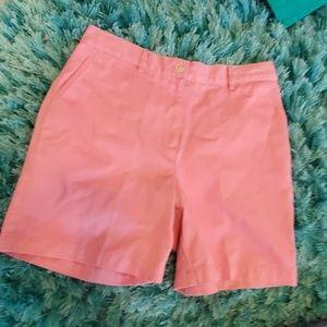 womens 6p pink lauren ralph lauren mom shorts